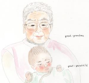 ひいおばあちゃん と ひ孫