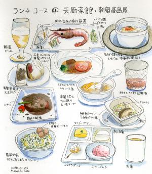 天厨菜館のランチ会食@新宿高島屋