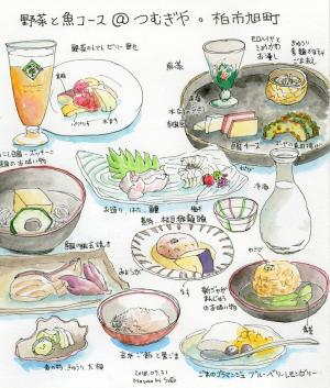 野菜と魚のコース@つむぎや 柏市旭町