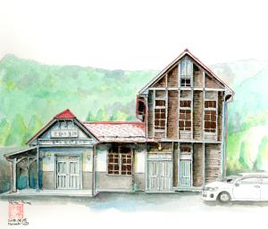 夏の思い出…旧島々駅舎