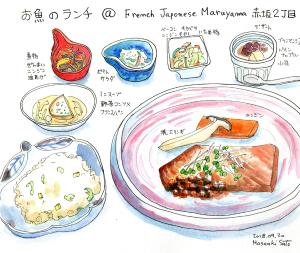 お魚のプレート@FRENCH JAPONEZE Maruyama