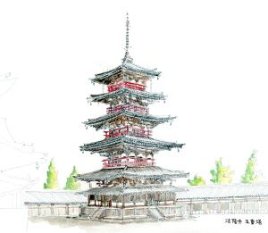 法隆寺五重の塔