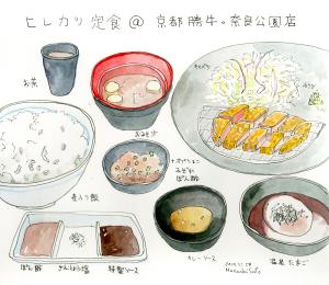 ヒレカツ定食@勝牛