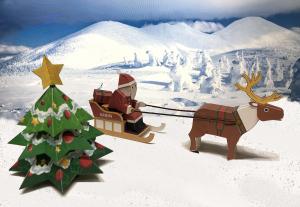 クリスマスに向けて紙工作
