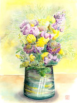 スイトピーの花束